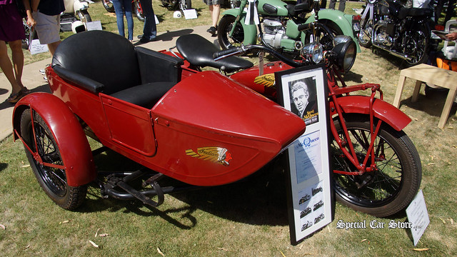 1930 Indian Chief with sidecar owned by Steve McQueen