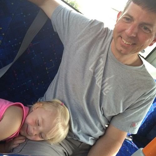 Trying to nap on the bus, the stinker. | by bethany actually