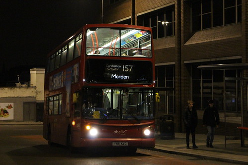 Abellio London 9756 on Route 157, Wallington Station