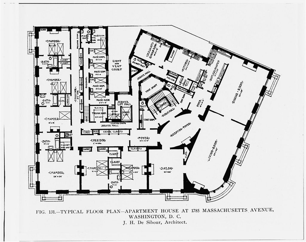 ... Layout Of Floor   McCormick Apartments   Washington DC | By Tim Evanson