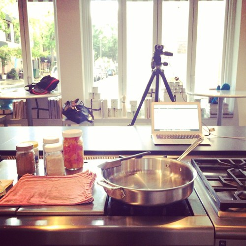 All set up to record an online canning demo! | by Marisa | Food in Jars