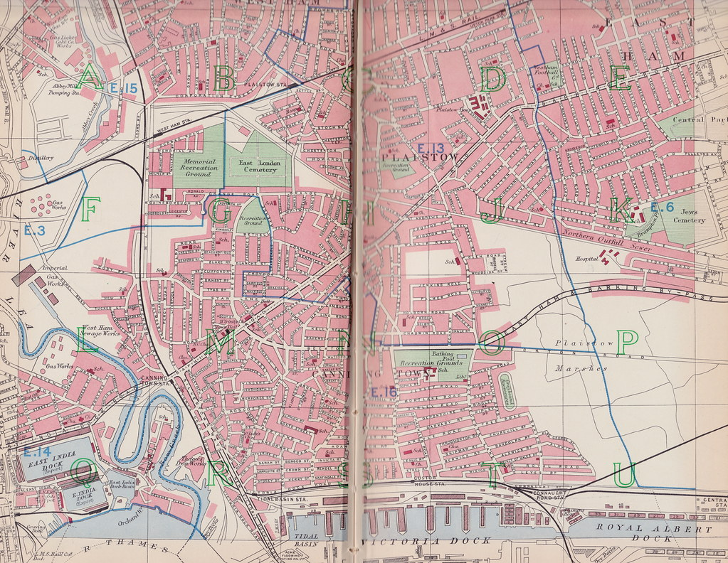 street plan of plaistow and canning town east london uk c1940 by
