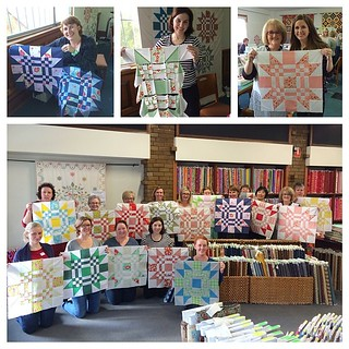 Such a great time at @aussiequiltsmith today. Everyone did a wonderful job! #redletteraustralia #quiltabout | by croskelley