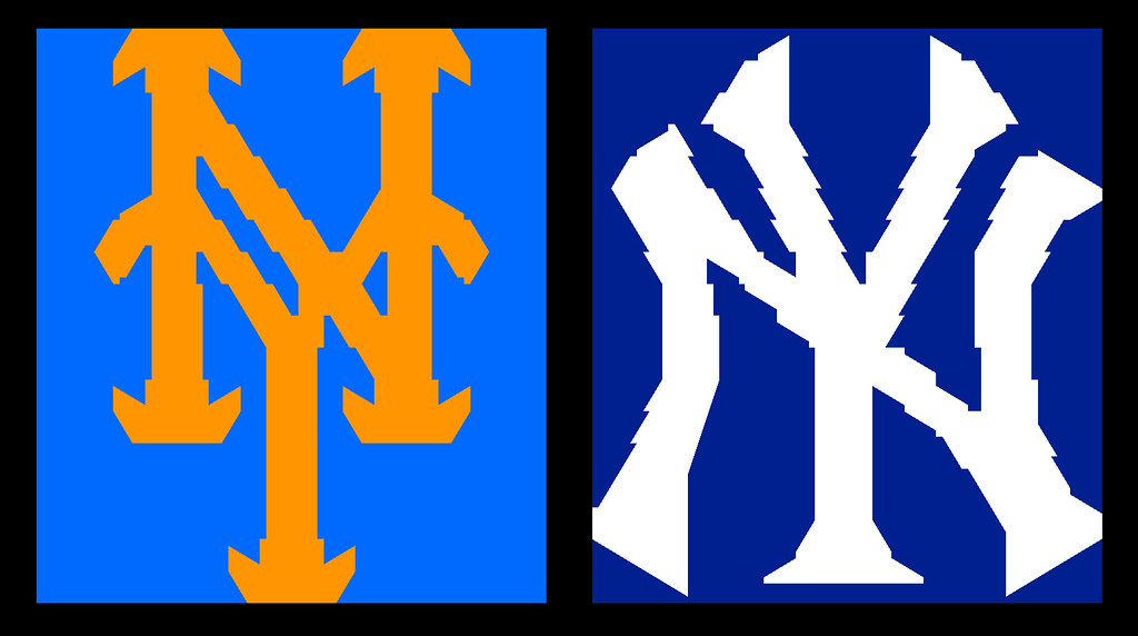 Yankees Mets Logo Cheese Mosaics I Was Inspired By Katies Flickr