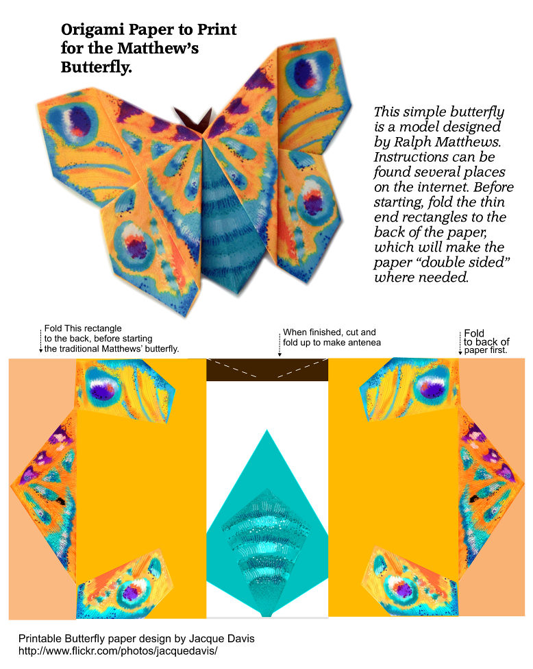 By Davisjacque Origami Butterfly Paper To Print