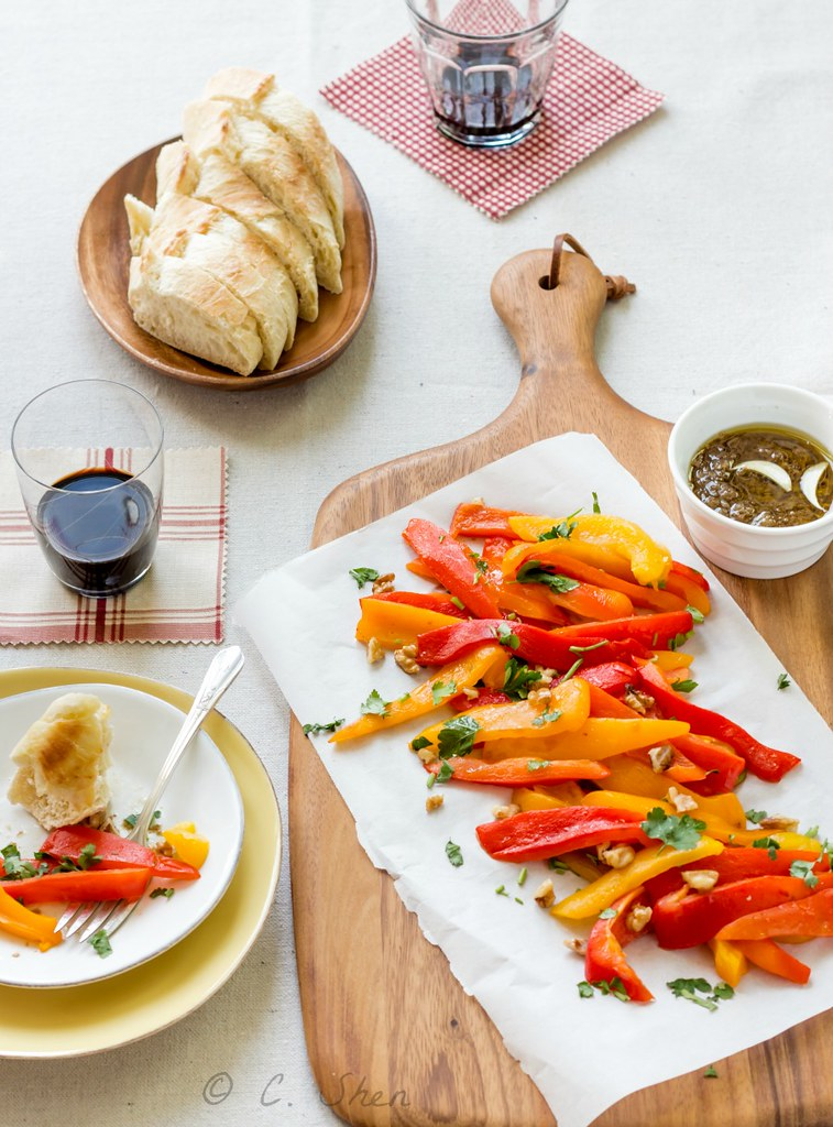 Roasted peppers with bagna cauda/Peperoni con la bagna caô… | Flickr