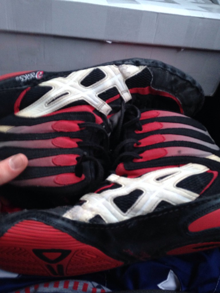 P2 ASIC wrestling shoes | I got them | Davin Simpson | Flickr