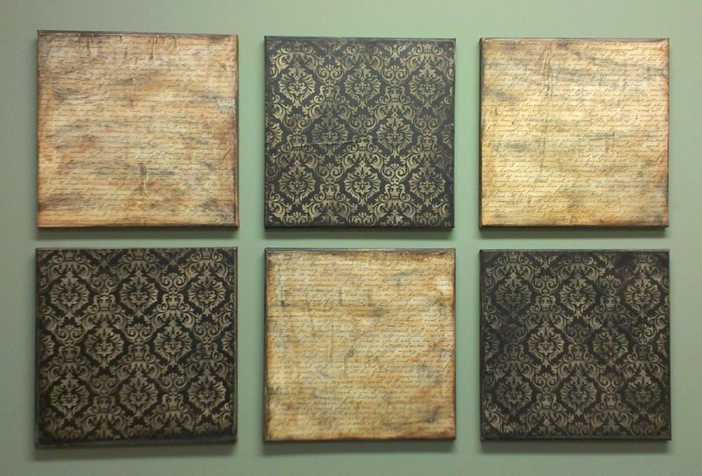 Mod Podge Scrapbook Paper Wall Covering Panel Art | DIY artw… | Flickr