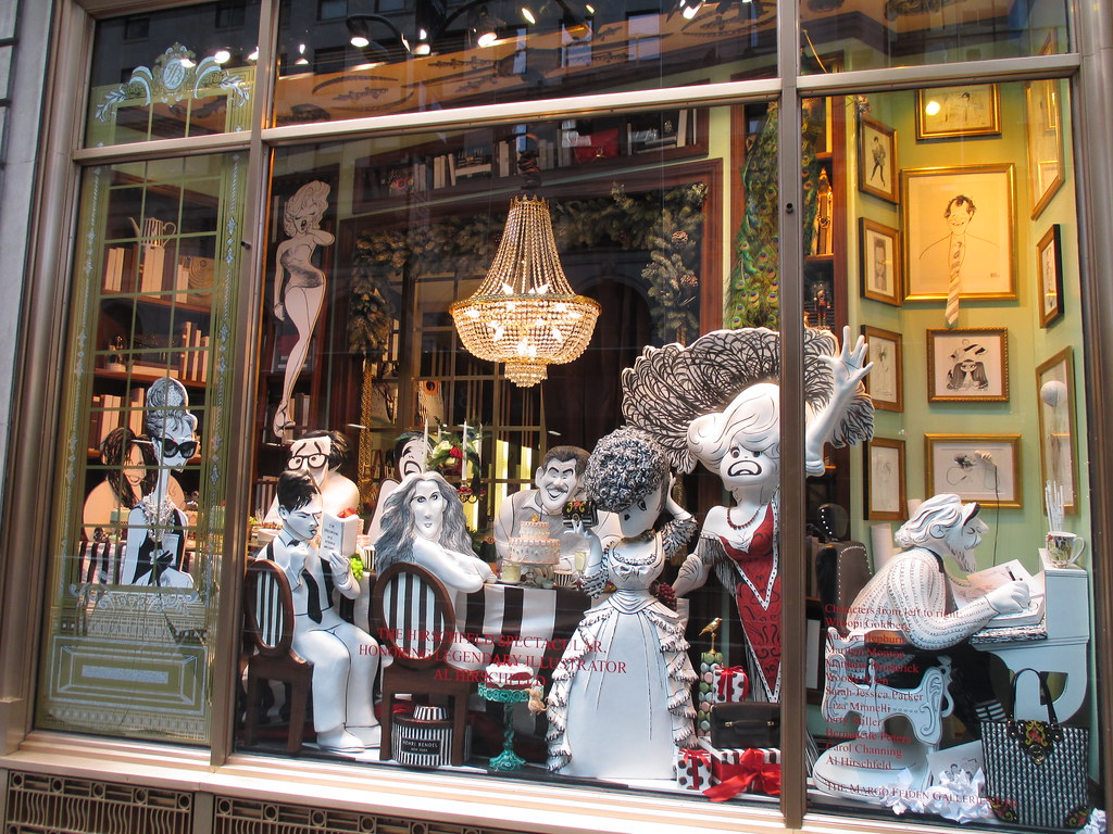Al Hirschfeld - 2013 Christmas Windows Henri Bendel s NYC … | Flickr