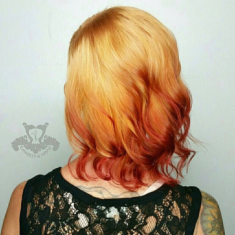 Fire Balayageshaved Side Bob Haircut Reverse Ombre Lif Flickr