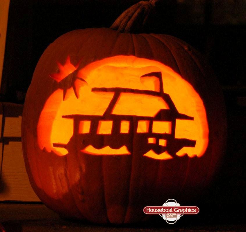 Houseboatgraphicscoolpumpkinboatdecals For All You Sp Flickr - Custom houseboat graphics