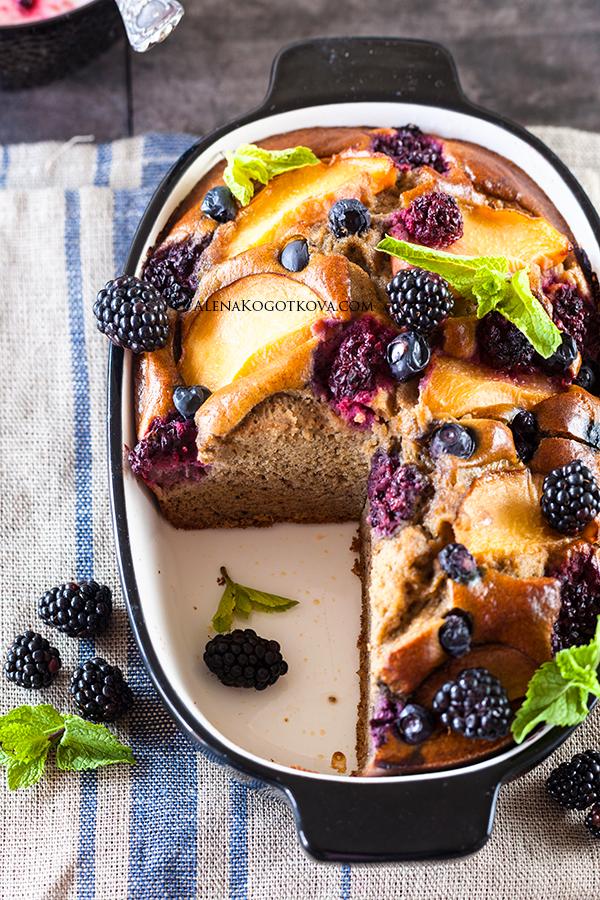 Berry and Buckwheat Cake
