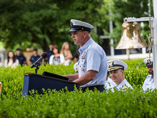 MCPOCG Leavitt speaks at TRACEN Yorktown CMC Change of Watch - 1 | by Coast Guard Senior Leadership
