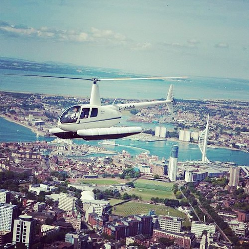 Phoenix Helicopters Robinson R44 Flying Over Portsmouth Fo  Flickr