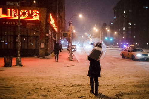 Umbrella vs Snowstorm Hercules, LES | by Dan Nguyen @ New York City