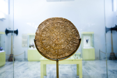 Crete - Heraklion Archaeological Museum - Phaistos Disk (side 1) | by vintagedept