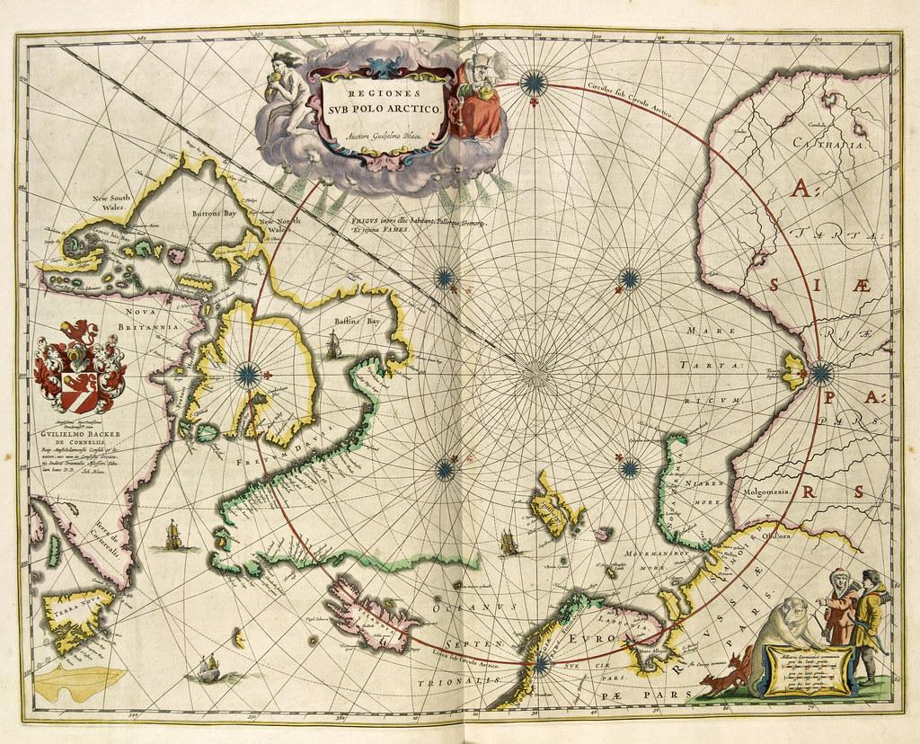 kart nordområdene Blaeus kart over Arktis og Nordområdene | Tittel / Title: Re… | Flickr kart nordområdene