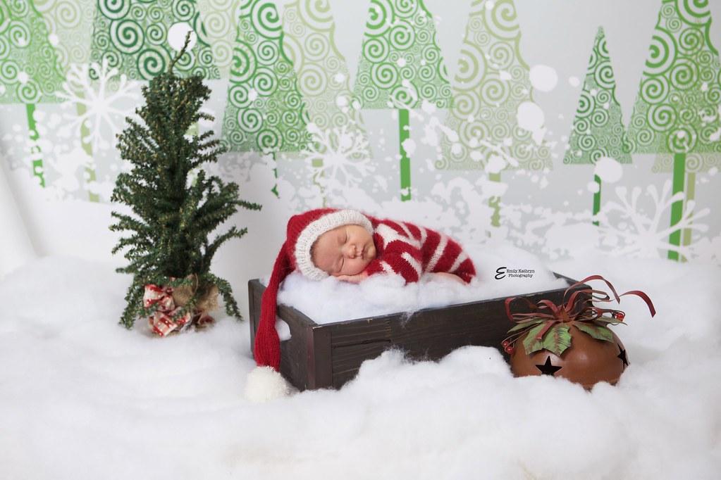 Newborn santa pictures