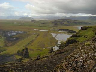 090 Dyrhólaey boven bij de vuurtoren uitzicht landzijde