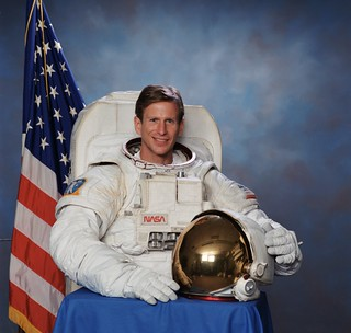 Astronaut Michael Gernhardt, STS-104 mission specialist, NASA photo, July 2001 9789897814_dbf95c6525_n.jpg