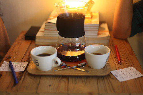 Playing the Cuppings coffee tasting game at The Village | by Kaeru