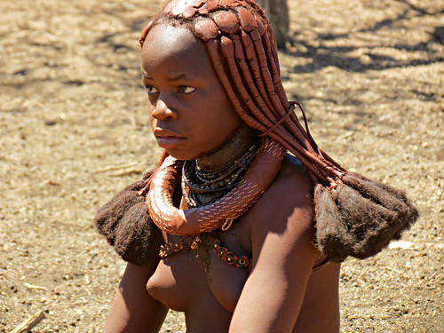 Young Himba Girl Ready For Marriage  Namibia Kaokoland -9695