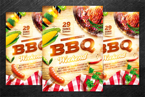 Bbq Party Flyer Vol 2 Psd Template Quot Bbq Party Flyer Vol