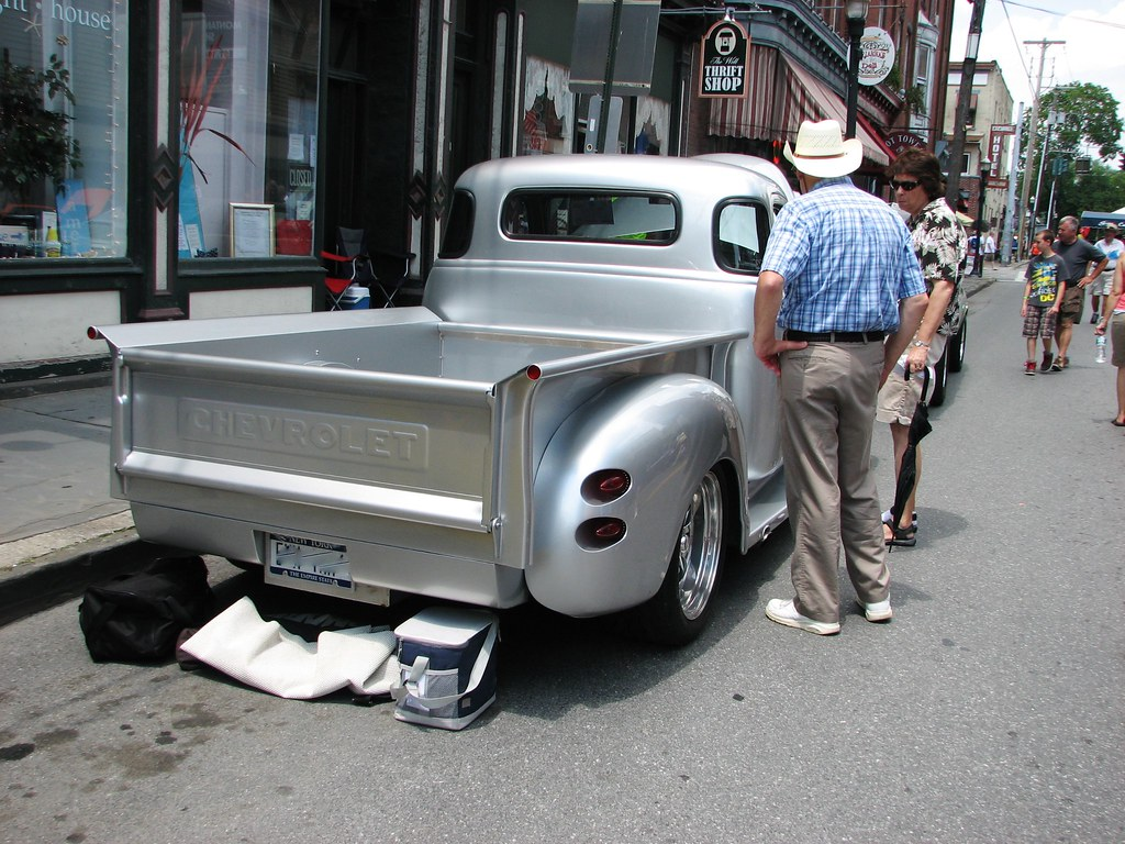 A Custom 1949 Chevy Pickup In July 2013 Seen At The S Flickr Truck By Richie 59