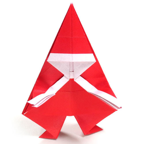 How To Make A Simple Origami Santa Claus This Simple Origa Flickr