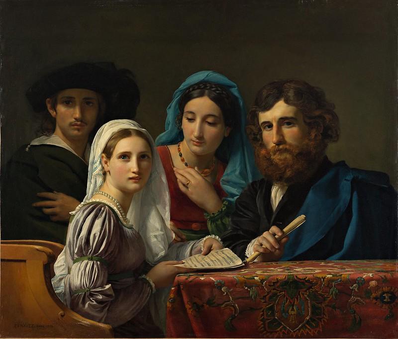 François-Joseph Navez - Scène de musique (1819)