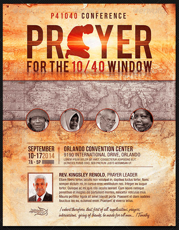 Prayer Conference Church Flyer Template  The Prayer Confere  Flickr