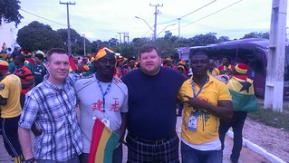 Us with Ghana fans | by IdoNotes
