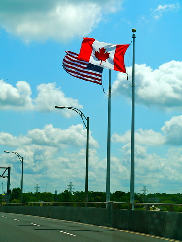 American Port of Entry at the Lewiston Bridge between Canada and USA over Niagara Falls - 2 | by antefixus21