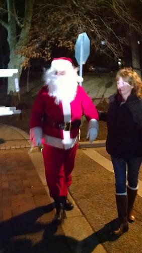 Santa arrived at the Greenbelt Festival of Lights.