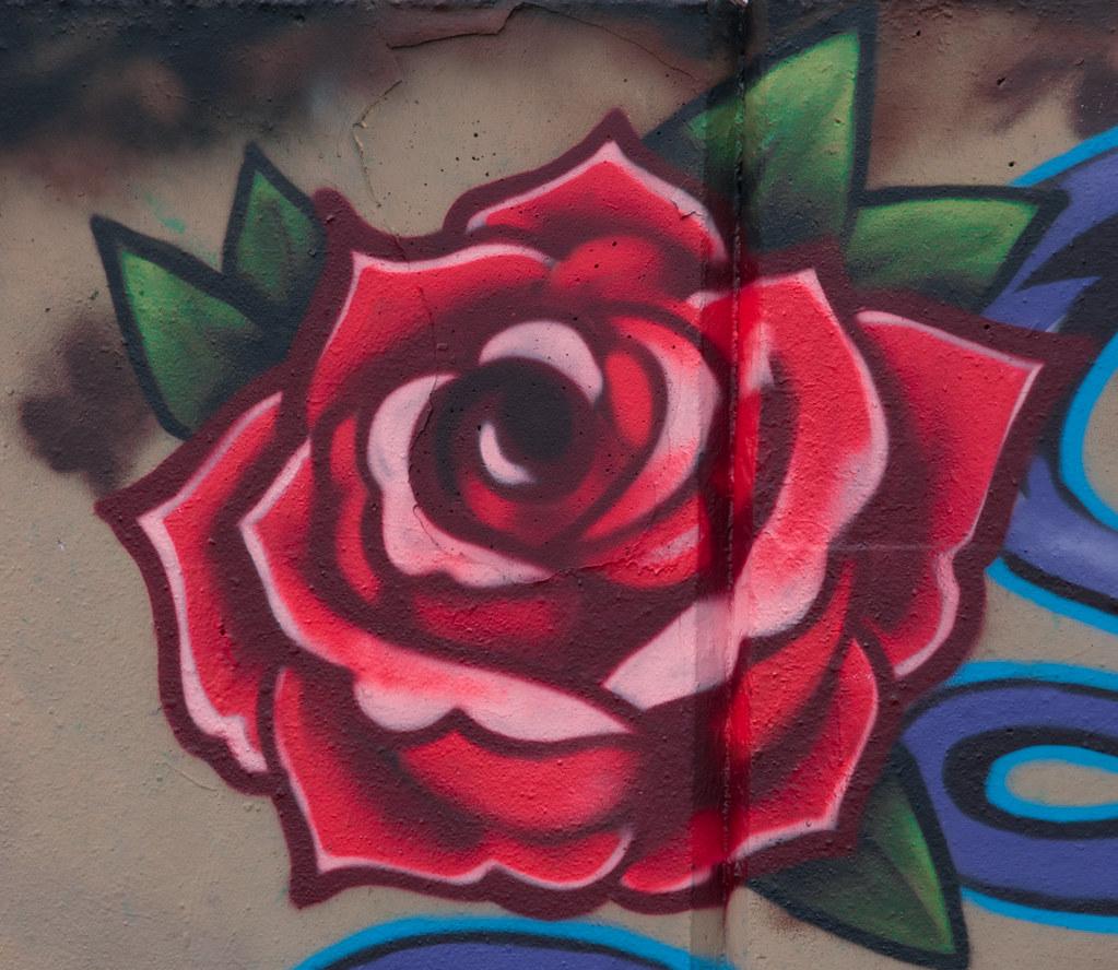 Graffiti rose by mutley668 graffiti rose by mutley668