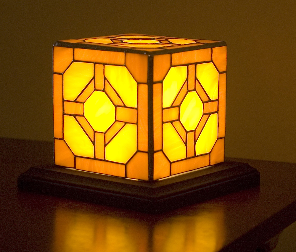 Stained Glass Redstone Lamp Inspired By Minecraft