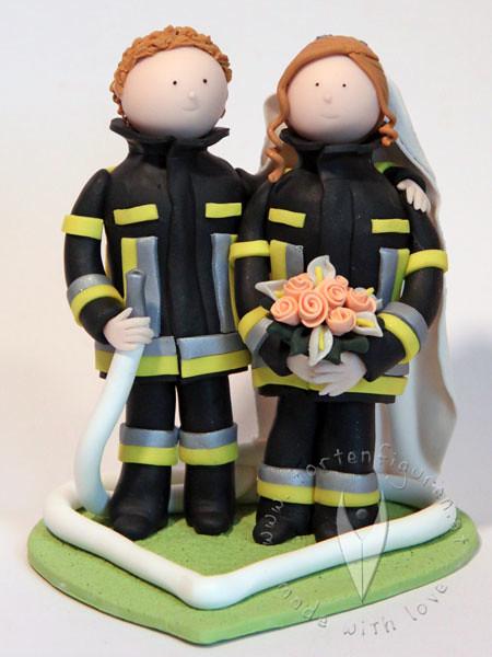 Feuerwehr Brautpaar Tortenfigur Tortenfiguren Flickr