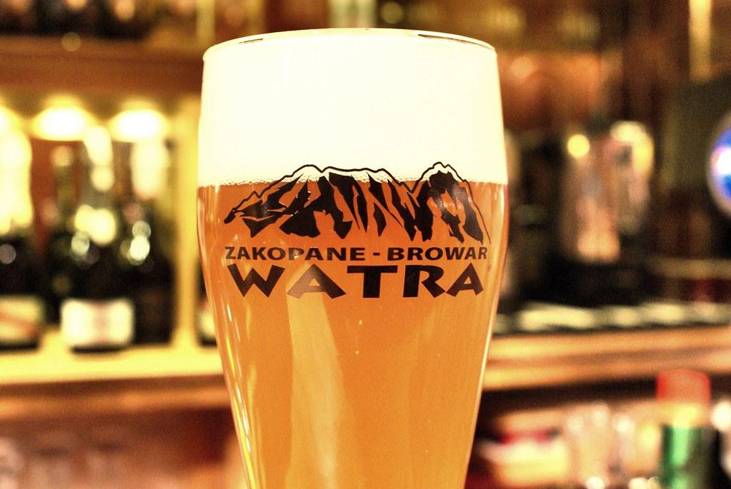 Watra, bière brassée à Zakopane et nom du bar où la boire.