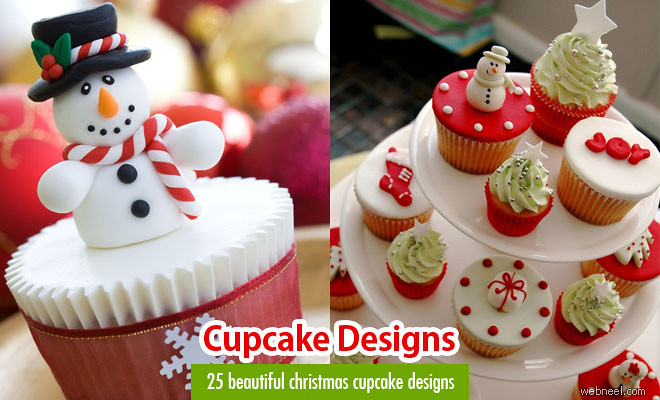 25 beautiful christmas cupcake decorating ideas for your inspiration by creative neel