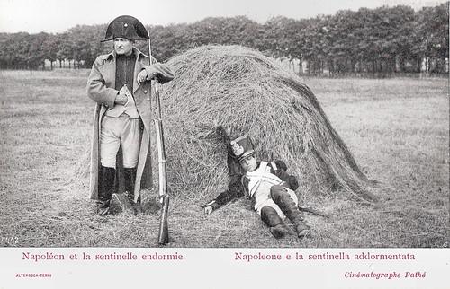 Napoléon et la sentinelle endormie
