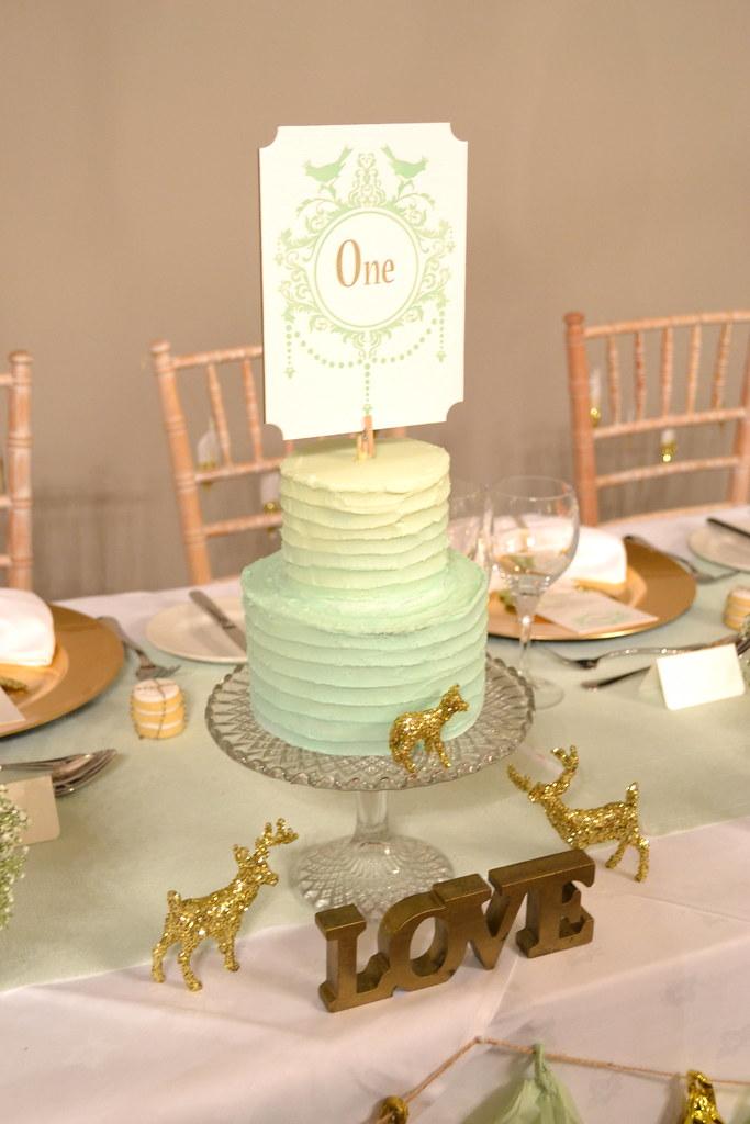 Mint green ombre buttercream wedding cake | Mint green ombre… | Flickr
