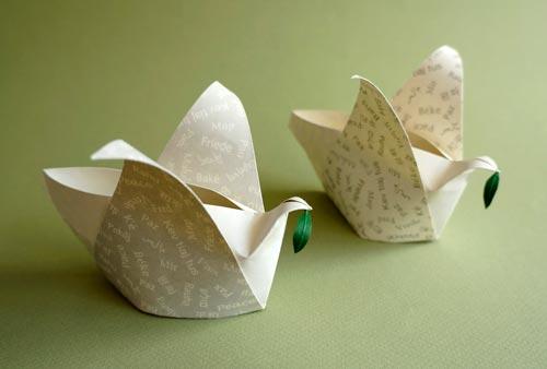 Origami peace dove - YouTube | 338x500