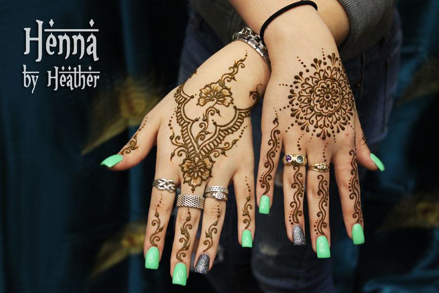 Henna Mandala And Jewelry Mehndi Design Mint Green Nail Flickr