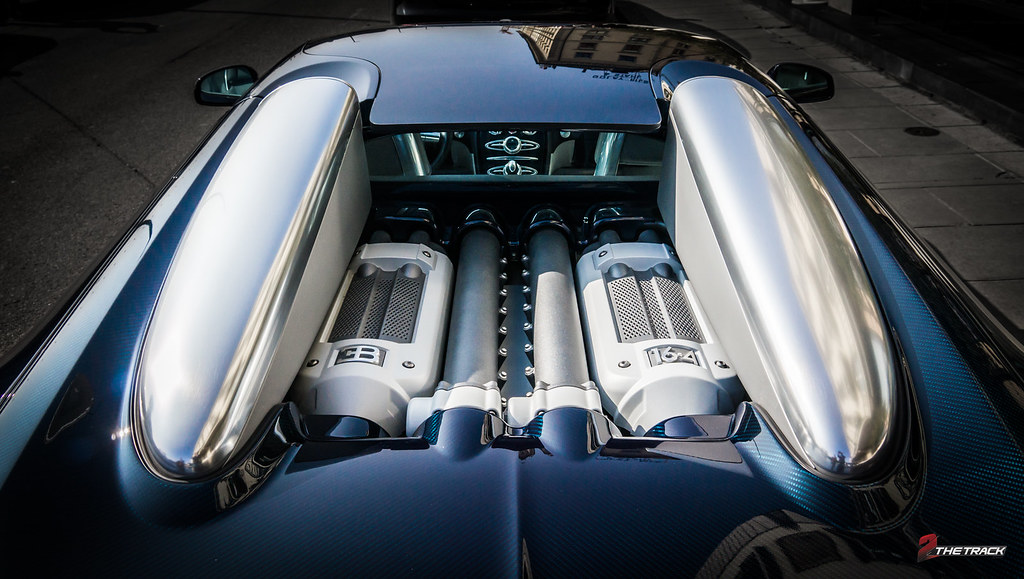 Bugatti Veyron Grand Sport Engine Bay I Photographed This Flickr