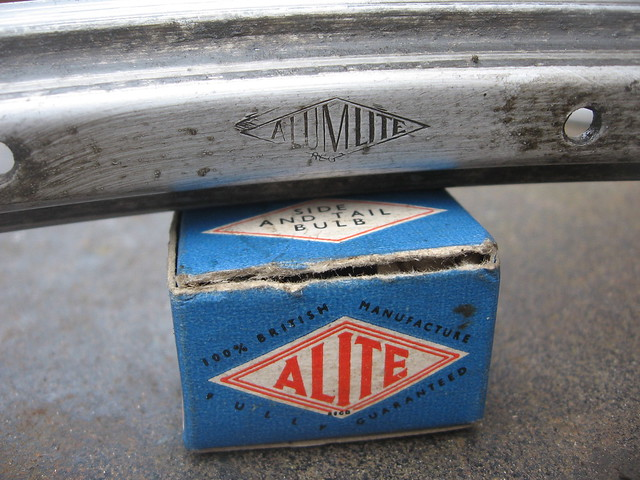 Alumlite rim marking and an Alite bulb box