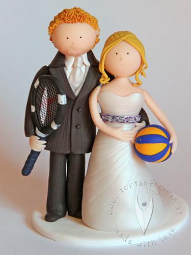 Tennis Brautpaar  by ♥ Tortenfiguren.at ♥ Hochzeitstortenfiguren