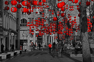 Lanterns in St Annes Square, Manchester, for the Chinese New Year | by Gidzy