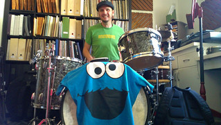 Gray and the Cookie Monster kick drum | by everyday j