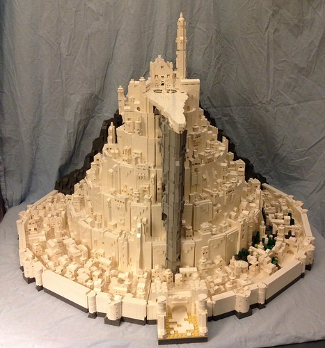 Final build of epic microscale Minas Tirith for Brickcon 2014 | by Koffy Kat Alpha