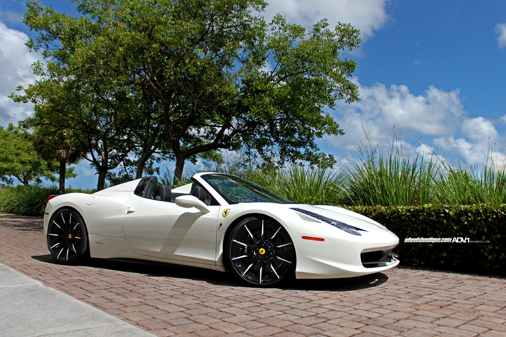 ferrari 2014 white. ferrari 458 spider 2014 on adv10 mv2 by wheels_boutique white